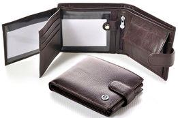 Вместительный кожаный мужской кошелек в черный цвете BOSTON из турция.
