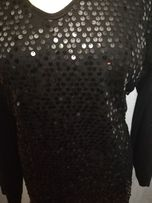 bluzka bluzeczka czarna cekiny