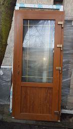 Drzwi zewnętrzne prawe PCV złoty dąb