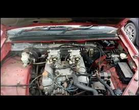 V8 rover motor with twin carburetor and aluminium block take as is