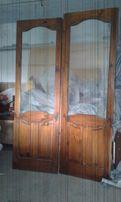 двери межкомнатные со стеклом из дерева б/у