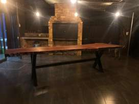 Hand crafted live edge dining table