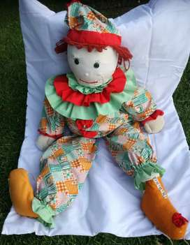Lovely Very Large Clown Rag Doll