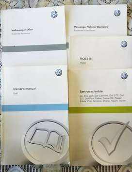 VW Golf 6 Owners manual