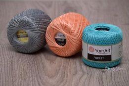 Шок-Цена! Летняя пряжа хлопок Yarnart Violet 39 грн! нитки для вязания