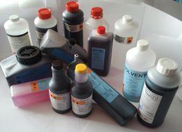 чернила, разбавители и промывочные жидкости