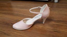 Ślubne skórzane buciki - nowe!