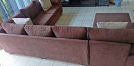 Full brown couch set