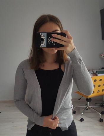 Szary zapinany sweterek ZARA S Białe Błota - image 1