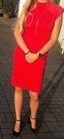 Sukienka Orsay M 38 czerwona dopasowana koronkowa sexy elegancka