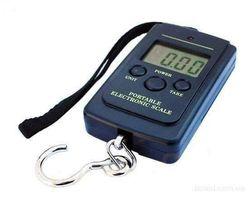 Вага для дому рибалки кишенькова електронна 40 кг + функція термометра