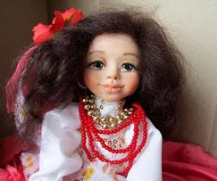 Кукла цыганка Рада, ручная работа