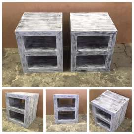 Night stand Farmhouse series 400 - Grey wash