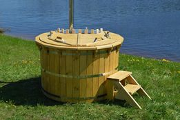 Balia Kąpielowa Gorąca Beczka Bania Hot Tub Basen Sauna Ogrodowa
