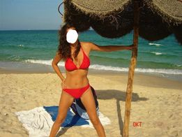 Czerwony strój kąpielowy bikini roz. M-L