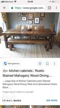 High quality mahogany table made to order get yours today 0
