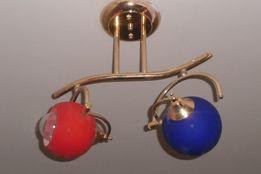 Светильник потолочный поворотный на два плафона