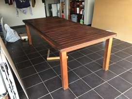 Wooden Outdoor Table and Benches