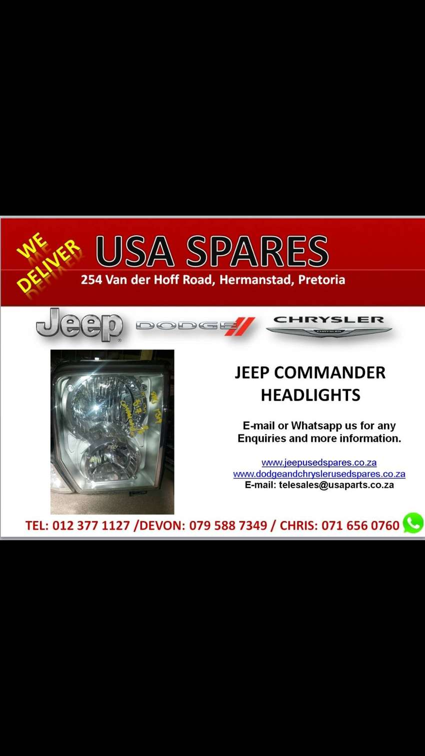 Jeep Commander headlights for sale 0