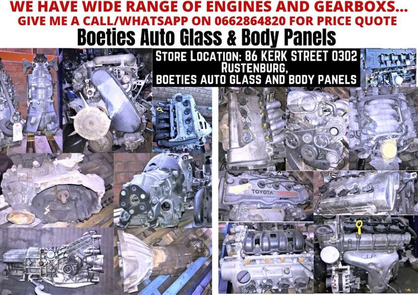 WIDE RANGE OF ENGINES AND GEARBOX'S