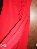 Elegancka sukienka wieczorowa + żakiet komplet rozm 36 wesele chrzciny