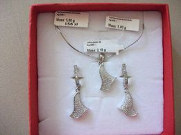 Srebrna biżuteria, srebrne kolczyki, srebrny komplet