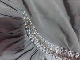Szara sukienka grecka do karmienia ślub wesele chrzciny okazja święta
