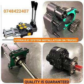 Truck PTO and hydraulic systems
