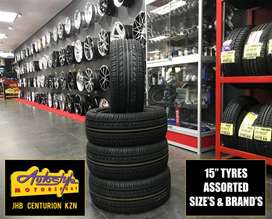 Tyres brand new 15 inch from R550  Other sizes available. We