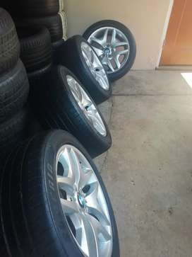 """BMW 18"""" MSPORT X3 MAGS WITH TYRES"""