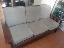 Wooden 3 seater couch
