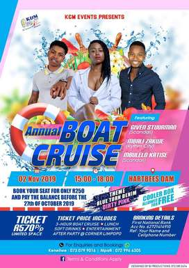 2019 Haartebees annual boat cruise tickets