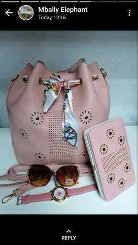LADIES HAND BAGS WITH ACCESSORIES