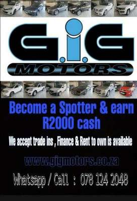 Earn R2000 cash from Home and become a Spotter