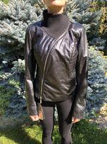 Куртка кожаная косоворотка