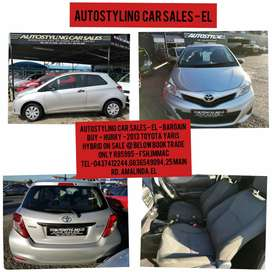 Autostyling Car Sales-EL - Bargain Below Book Trade-2013 Toyota Yaris