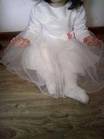 Piękna sukienka do chrztu dla dziewczynki
