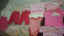 Ubrania używane dla dziewczynki 17 sztuk rozmiar 62 -68