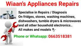 Wiaan's Appliances Repairs