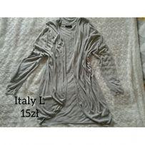 Sweter włoski dzianina L szary