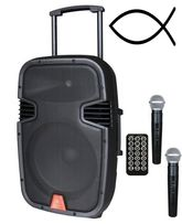 Активная колонка MAXMBA W-15-300 Wt с микрофонами радиосистема!