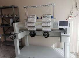 2 Head Industrial Embroidery Machine