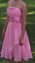 Платье выпускное миди розовое 42
