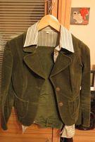 Żakiet (zamsz) + spodnie (zamsz) +bluzka
