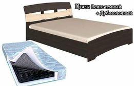 Двухспальная кровать Марго+Матрас Largo Bon 1600х2000