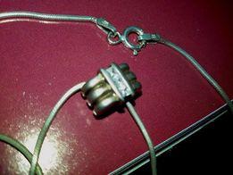 Серебряная цепочка 925* + подвеска c цирконами + подарок!