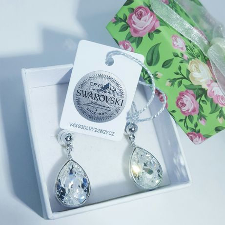 Swarovski серьги сережки капельки капли подарок девушке для девушки Киев - изображение 4