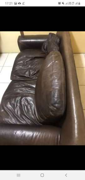 Genuine 2seater leather couch