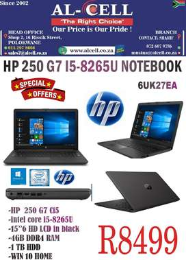 HP 250 G7 CI5U-8265U NOTEBOOK