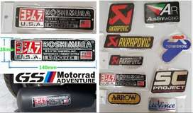 BMW Yoshimura aluminium exhaust silencer decal badge emblem